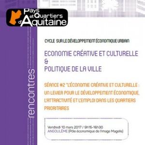 Journée économie culturelle et politique de la ville - PQA
