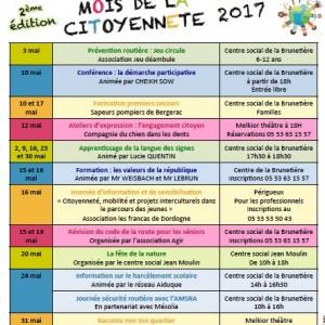 Calendrier mois de la citoyenneté - CS Brunetière